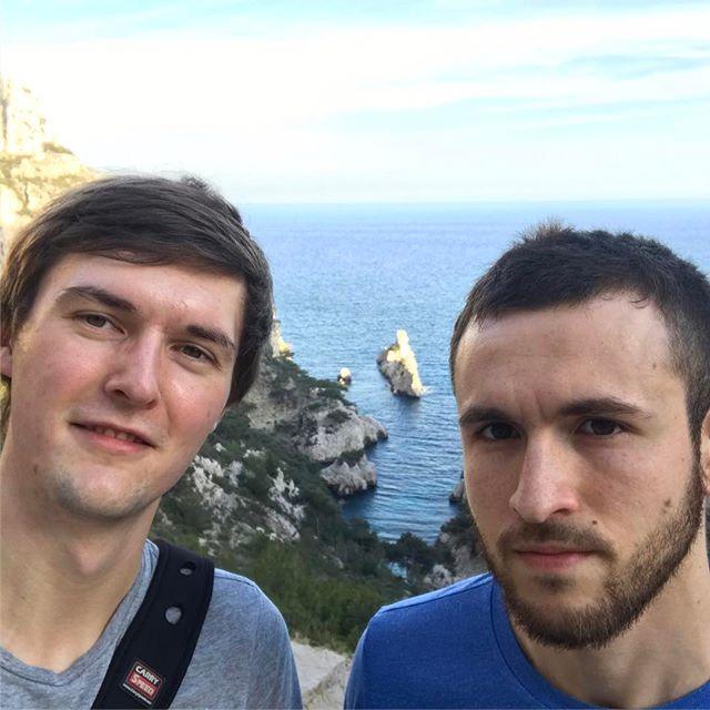 Selfie mit Simon und Mitbewohner in Marseille.