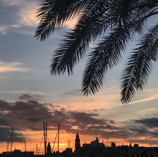 Barcelona, Abend, Sonnenntergang