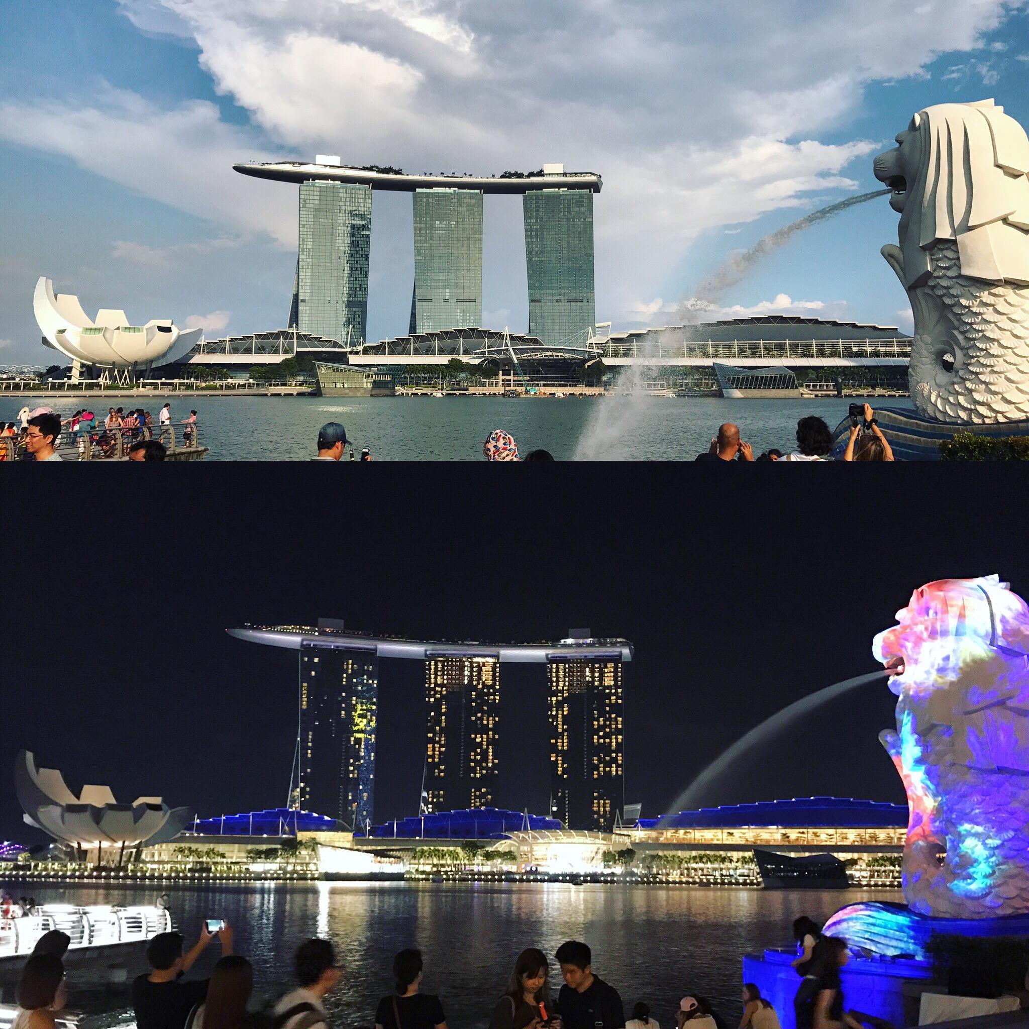 Marina Bay Sands, MBS, Tag und Nacht