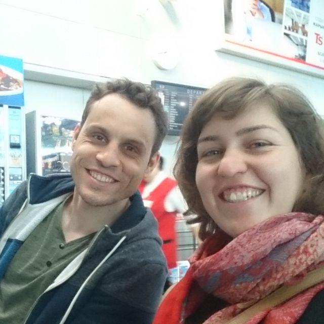Theresa und ihr DAAD-Kollege Florian Tack