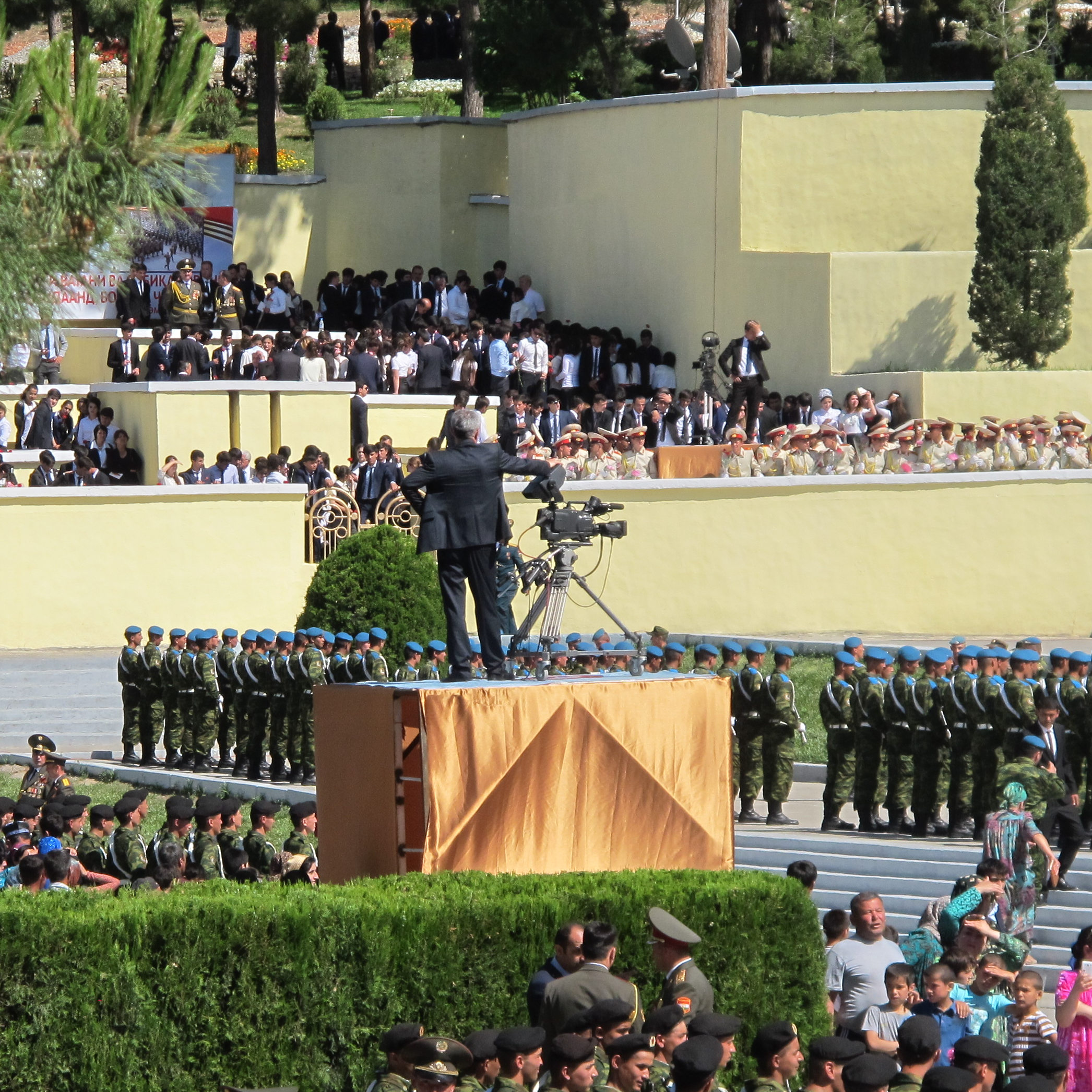 Kameramann bei der Militärparade in Tadschikistan zum 9. Mai 2017.