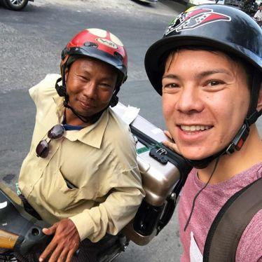 Koffer, Motorrad, Einheimische