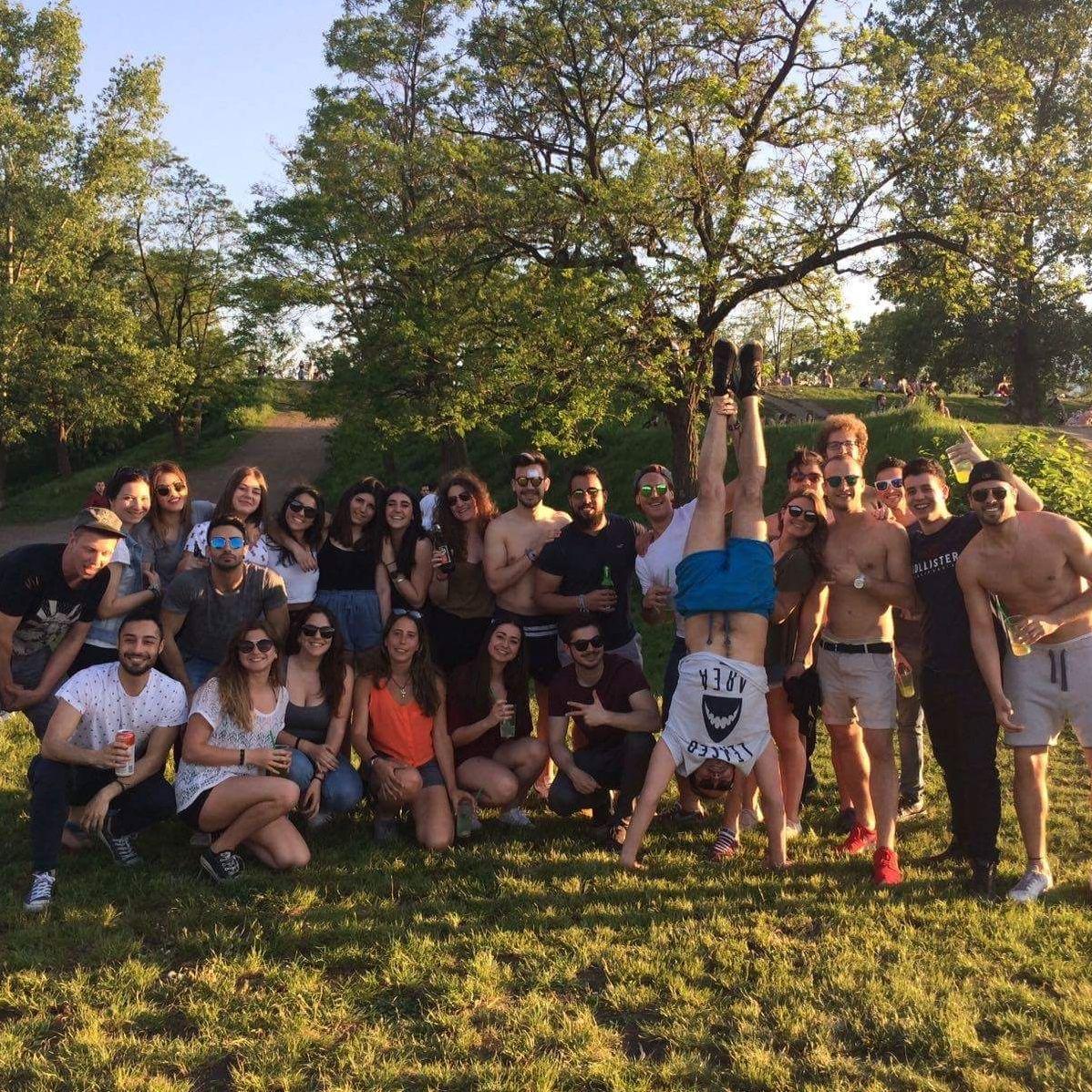 Viele meiner Erasmus Freunde gemeinsam auf dem economalia festival