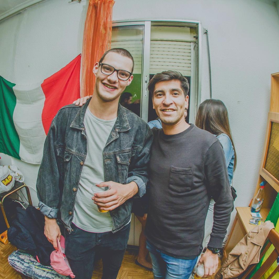 Foto von mir und einem chilenische Kumpanen