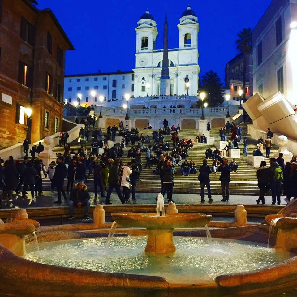 Die spanische Treppe am Piazza di spagna in Rom
