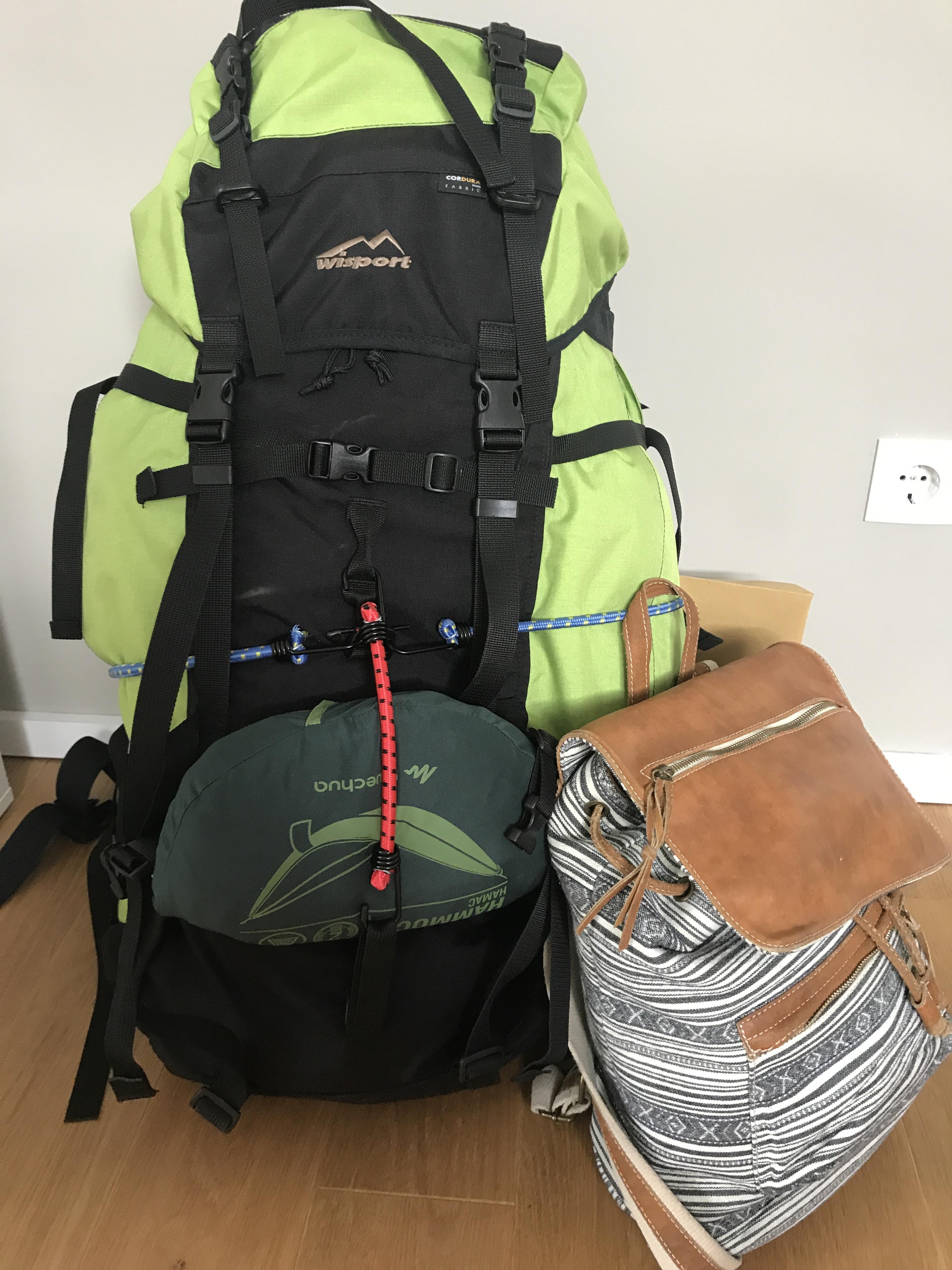 Ich packe meinen Rucksack und nehme mit …