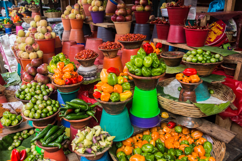 Gestapeltes Gemüse