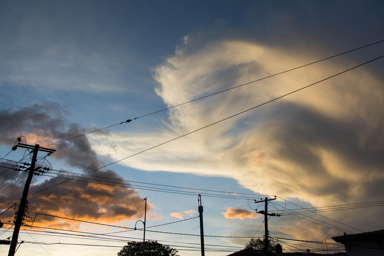 Himmel mit Abendrot