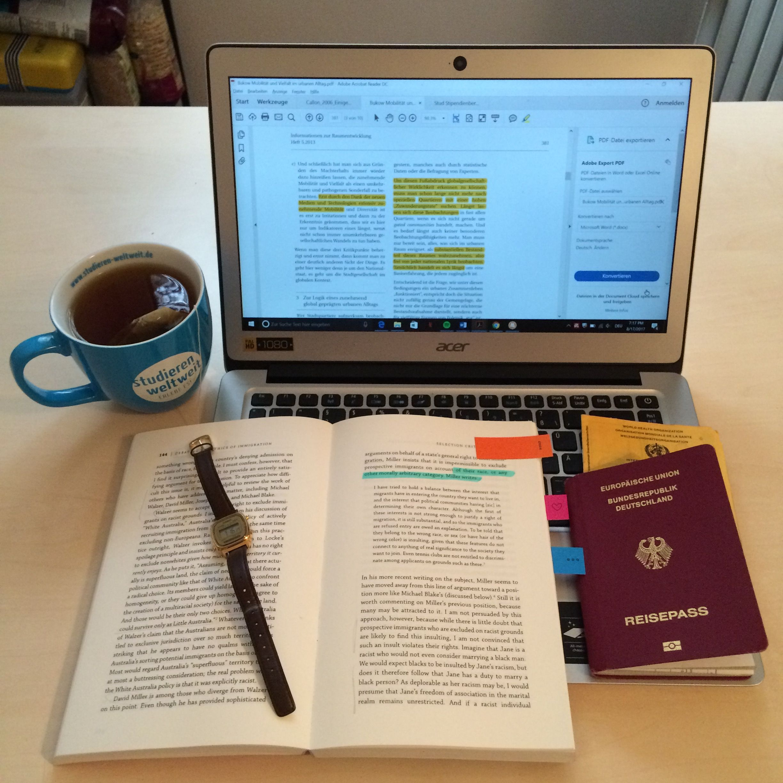 Schreiben der letzten Hausarbeit