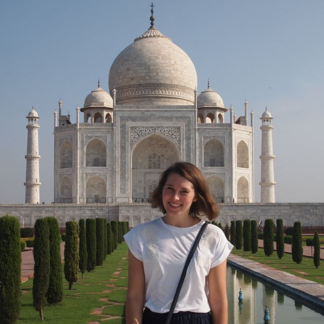 Ich vor dem Taj Mahal