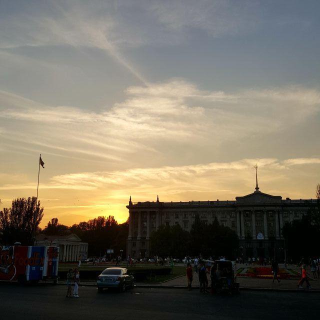 Zentrum Mykolajiw Sonnenuntergänge