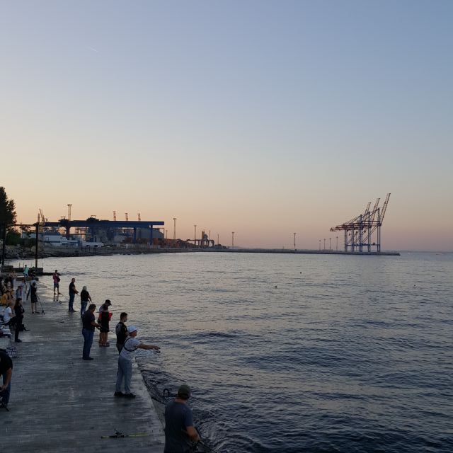 Sonnenuntergang Odessa Schwarzes Meer