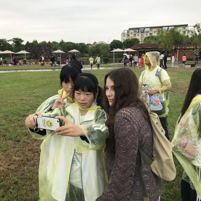 Beim Selfie mit Chinesen