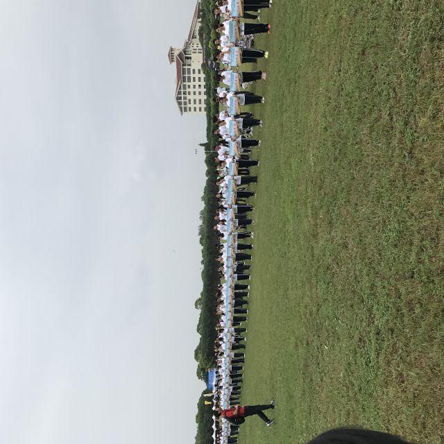 Schüler aus Shanghai bei der Eröffnungszeremonie