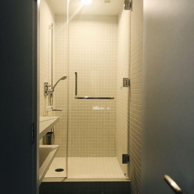 Kapselhostel Duschen