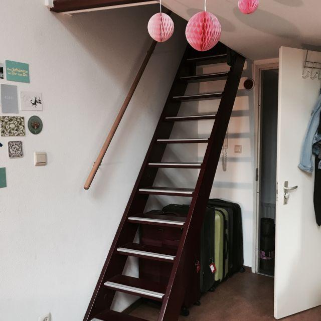 Treppe zu Kiras Bereich