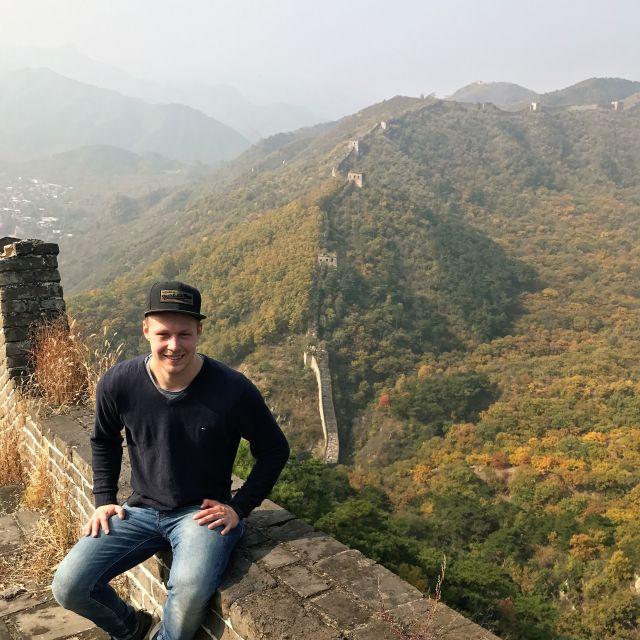 Erinnerungsbild von mir auf der Chinesischen Mauer