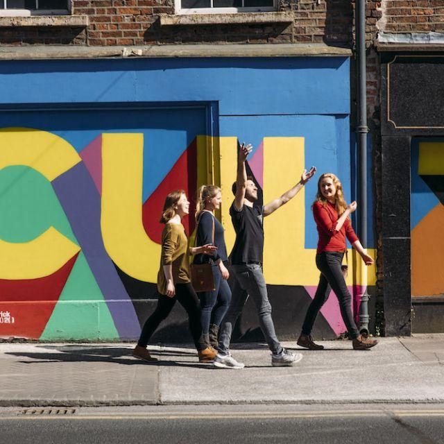 Silva unterwegs mit Freunden in Limerick.