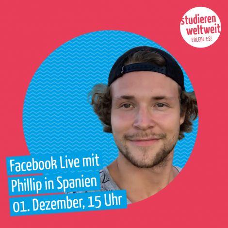 Facebook-Live-Ankündigung mit Phillip
