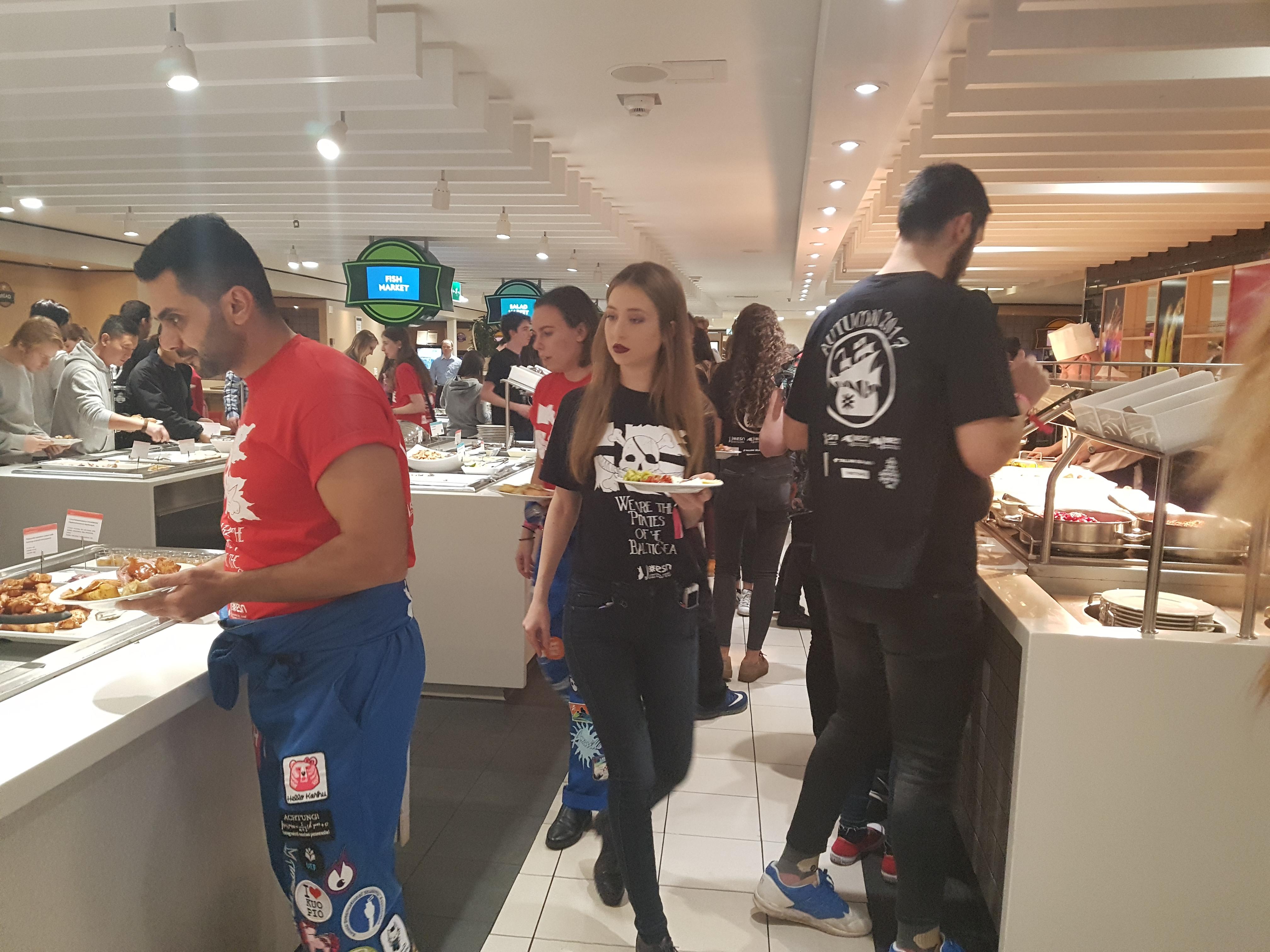 Das All-you-can-eat Buffet auf dem Schiff
