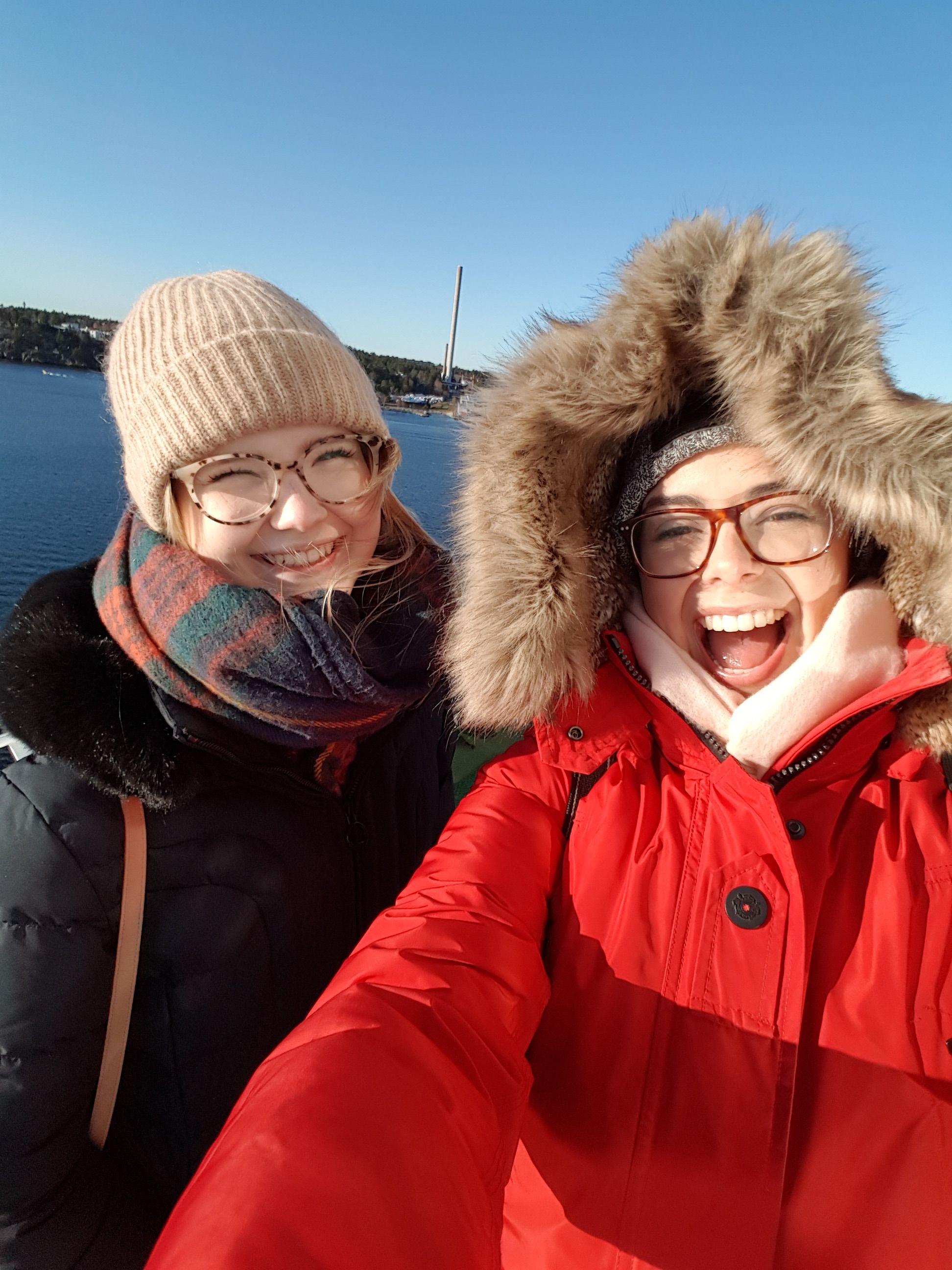 Einlaufen in Stockholm - wirklich sehr kalt