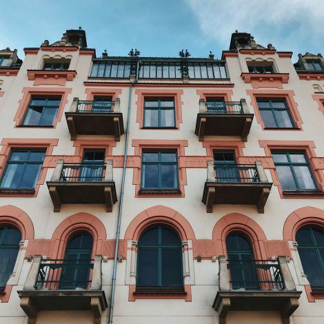 Häuserfassade Krakau