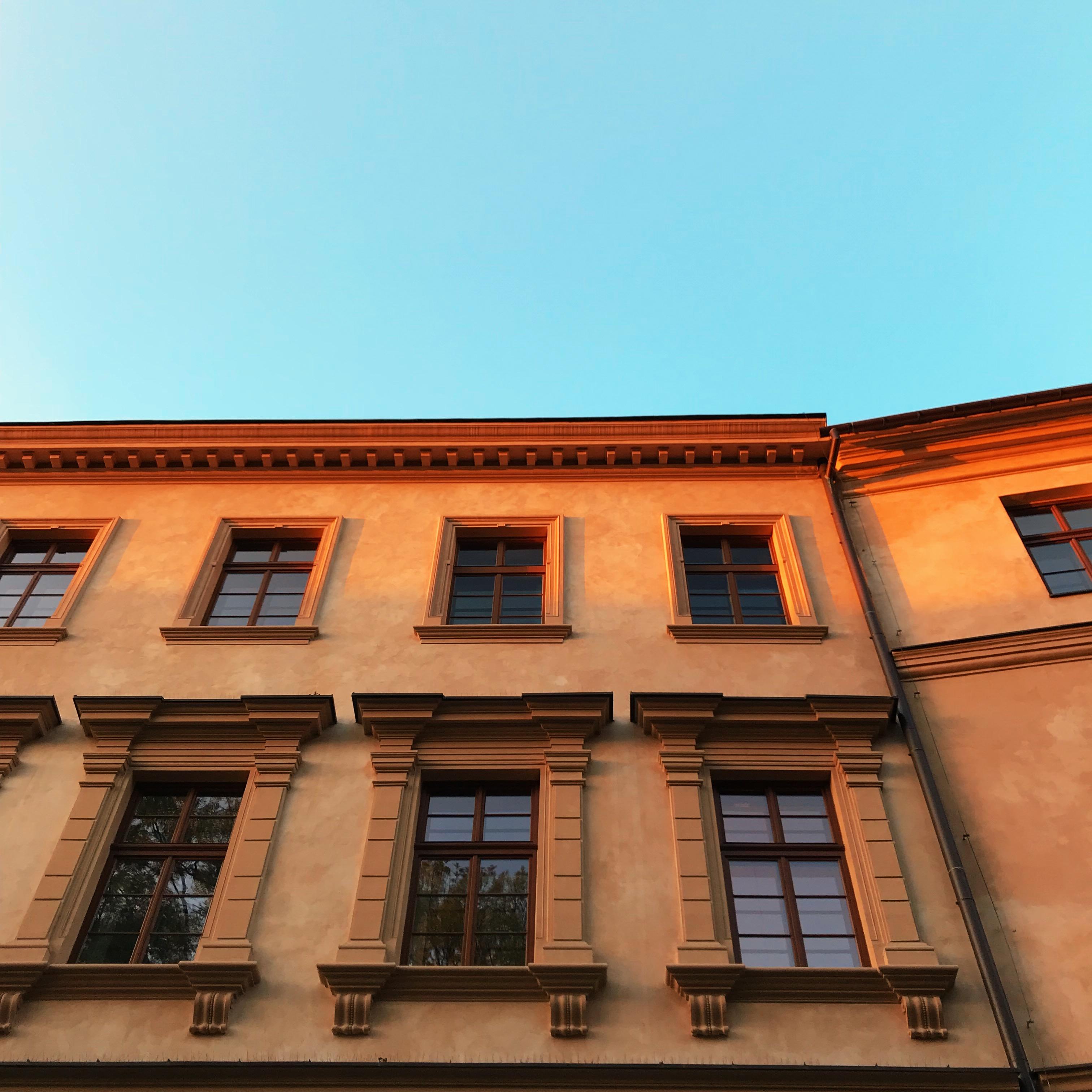 Fassade Sonnenuntergang