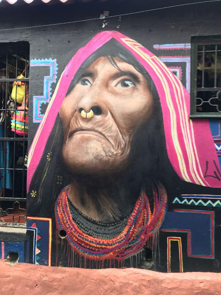 Eins der bekanntesten Graffitis in Bogota