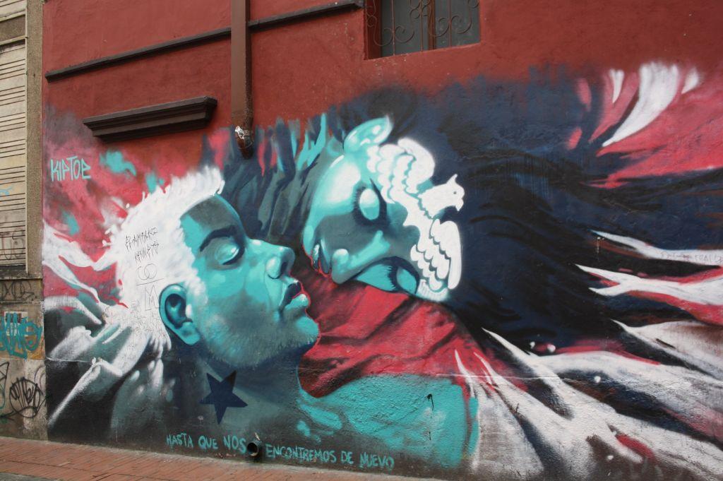 Grafitti von zwei sich liebenden