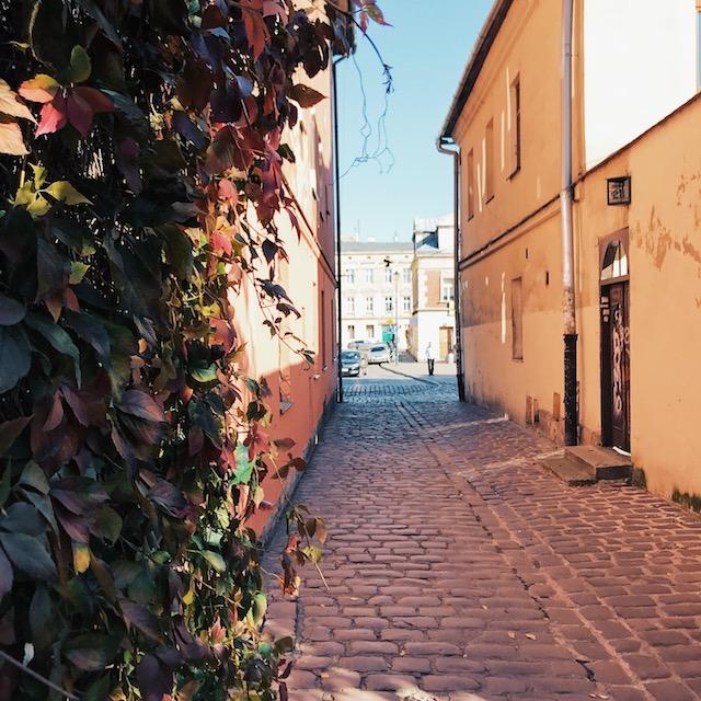 Eine typische Seitenstraße im Kazimierz.