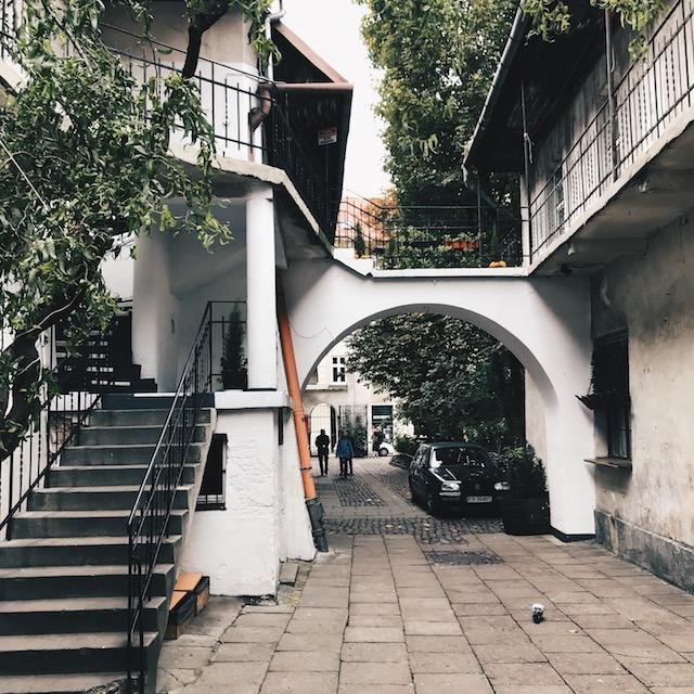 Ein typischer Hinterhof im Kazimierz.