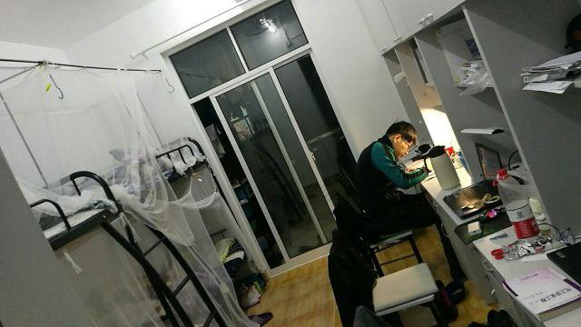 4er- Zimmer im chinesischen Wohnheim