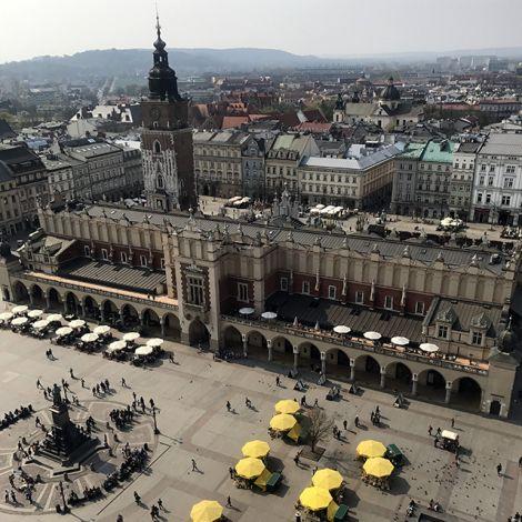Krakau Marktplatz Blick von oben