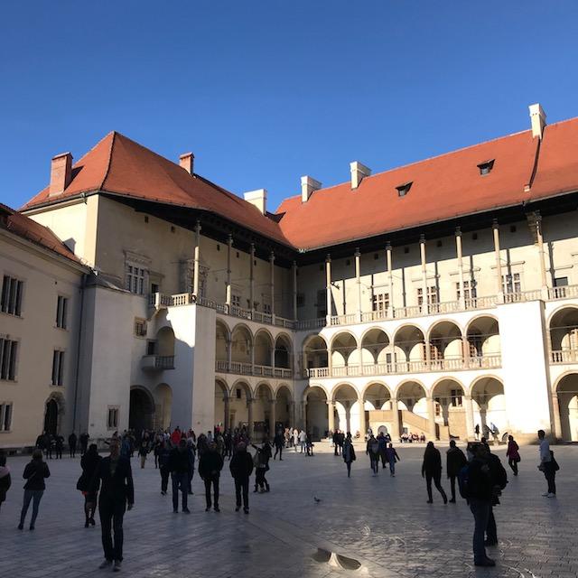 Der Innenhof der Wawel-Residenz