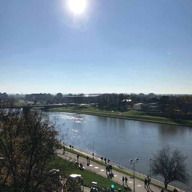 Blick vom Wawel-Hügel auf die Weichsel