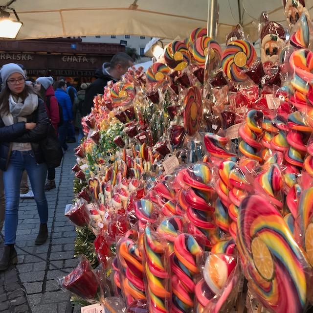 Weihnachtsmarkt Krakau Süßigkeiten