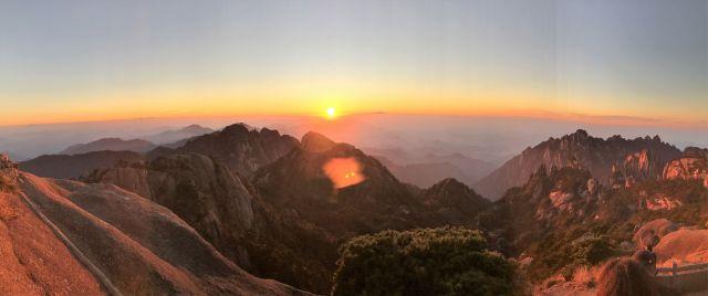 Panorama des Sonnenuntergangs