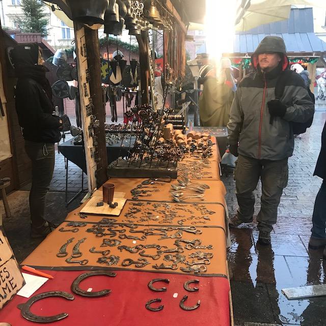 Weihnachtsmarkt Krakau Schmied