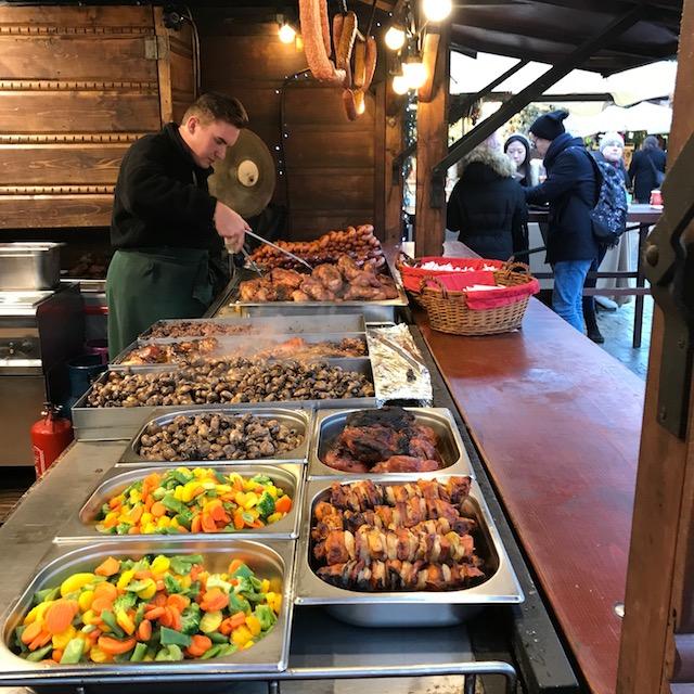 Weihnachtsmarkt Krakau Essen Gemüse