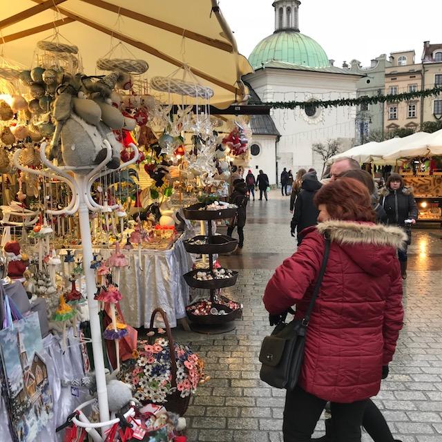 Krakauer Weihnachtsmarkt Besucher Bude