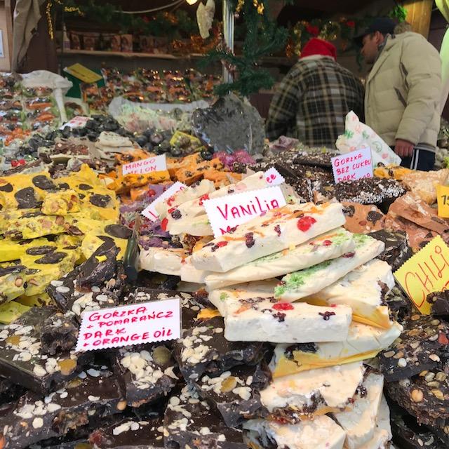 Weihnachtsmarkt Krakau Schokolade
