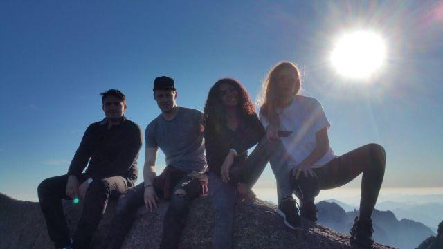 Gruppenbild von uns in den Yellow Mountains