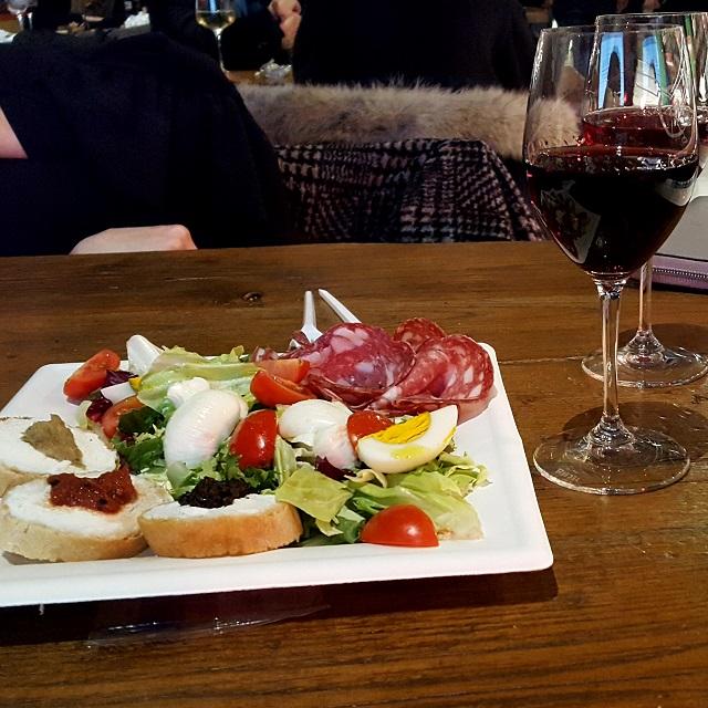 Wein, Crostini Misti im Mercato Centrale.