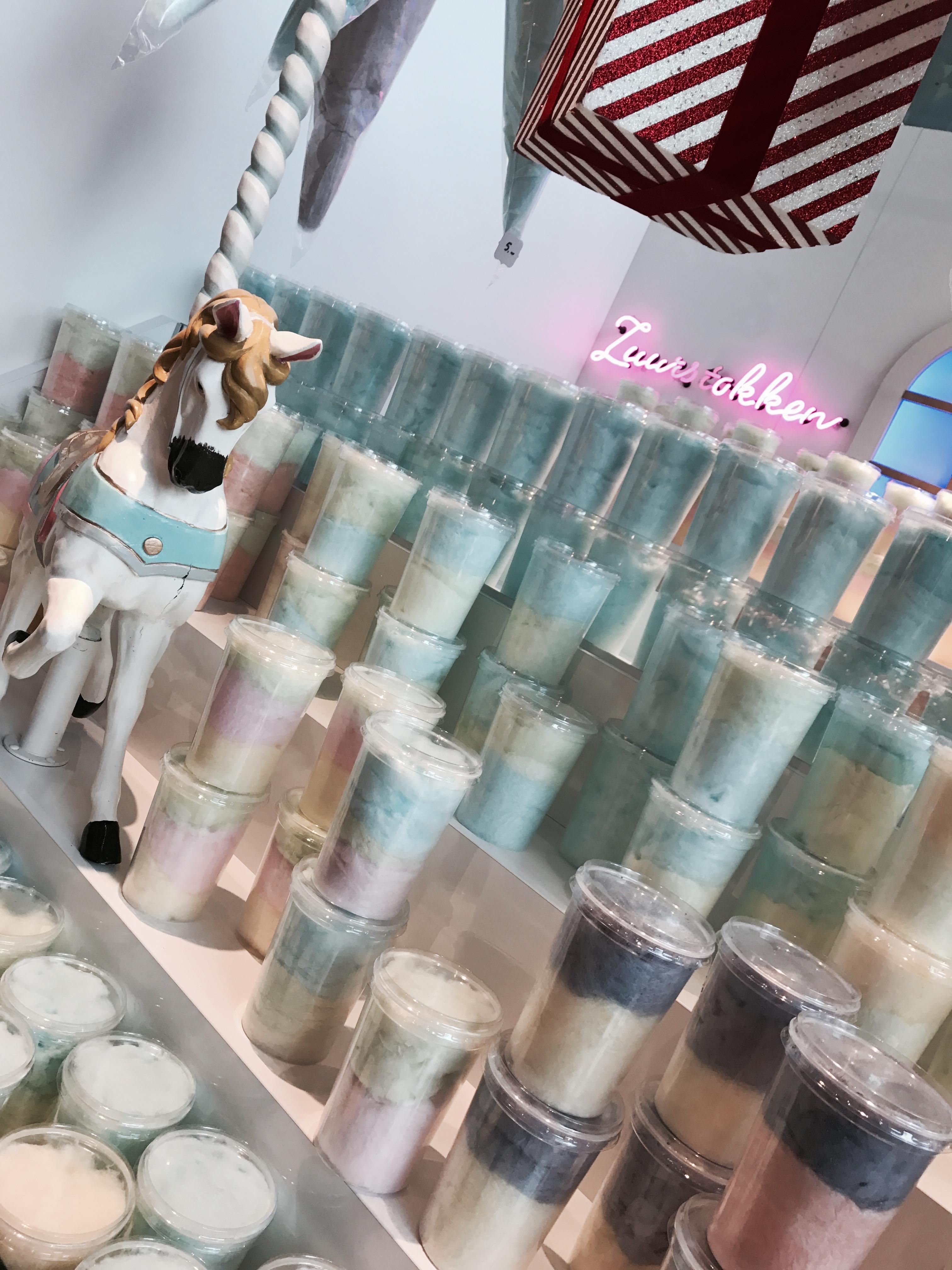 Zuckerwatte in der Markthalle