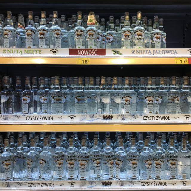 Vodka im Supermarkt