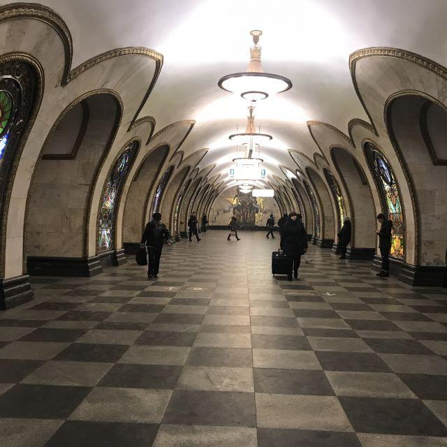Nowoslobodskaja Metro Station in Moskau