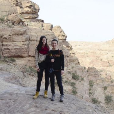 Niki und ich in Jordanien