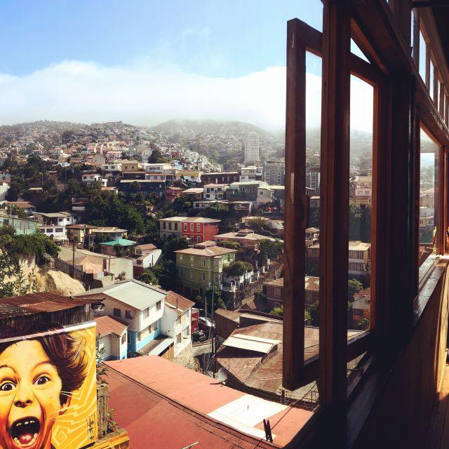 bunte Häuser, Ausblick aus dem Fenster