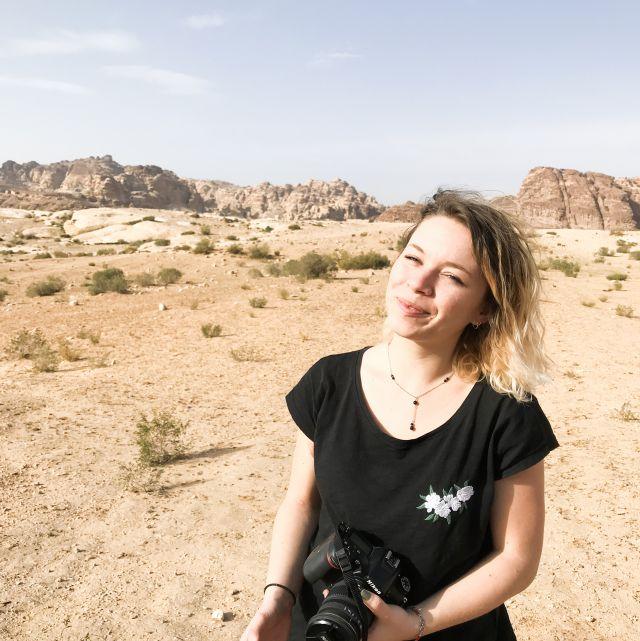 Niki in Jordanien