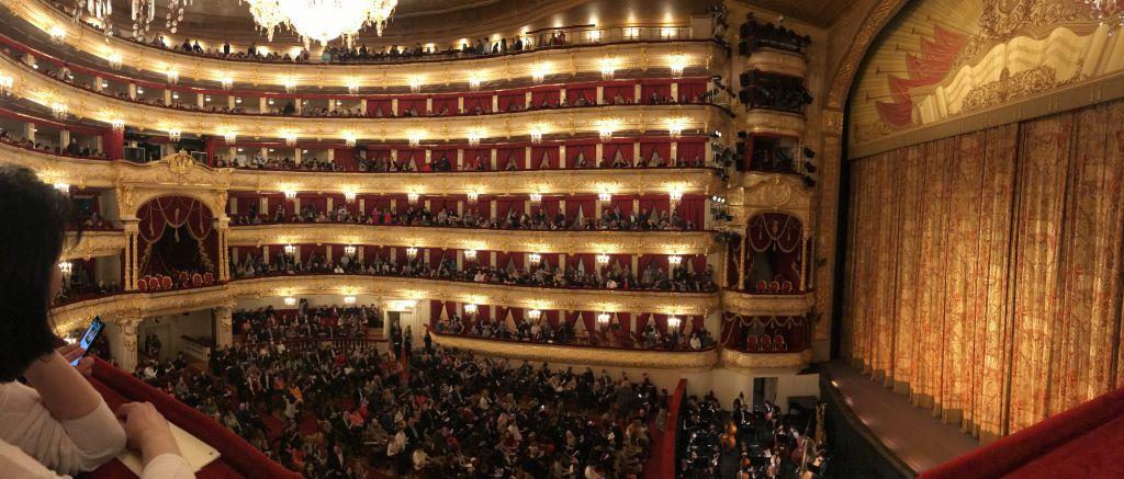 Panorama der Historischen Bühne des Bolschoi-Theaters